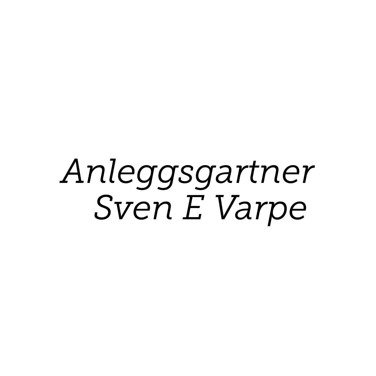 Anleggsgartner Sven E Varpe